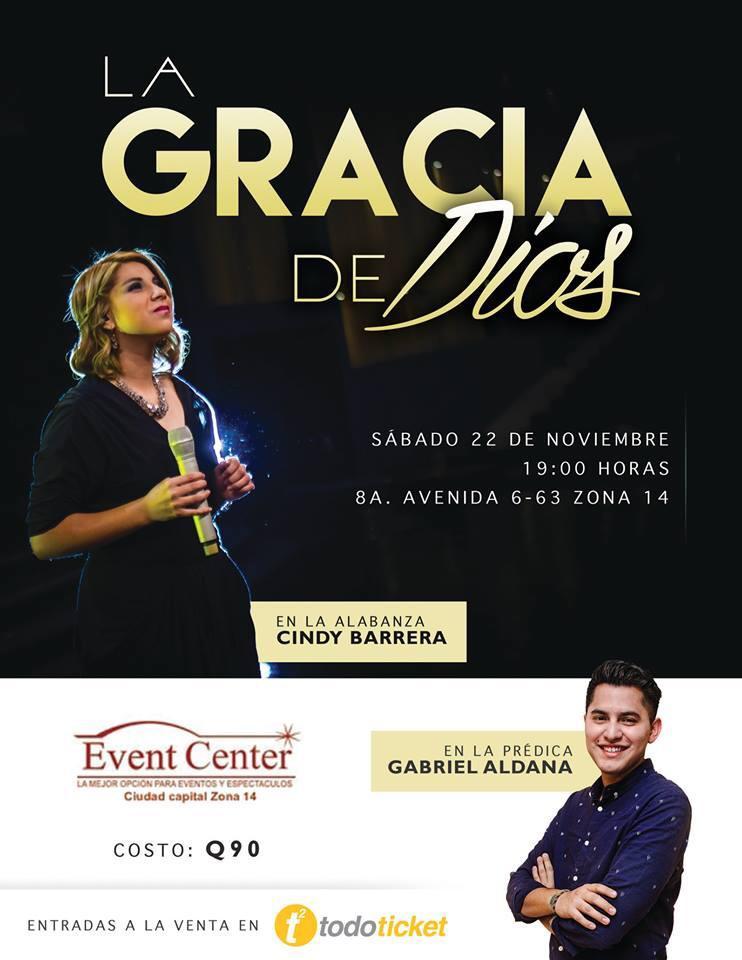 Photo of La Gracia de Dios – Cindy Barrera, Noche de Alabanza
