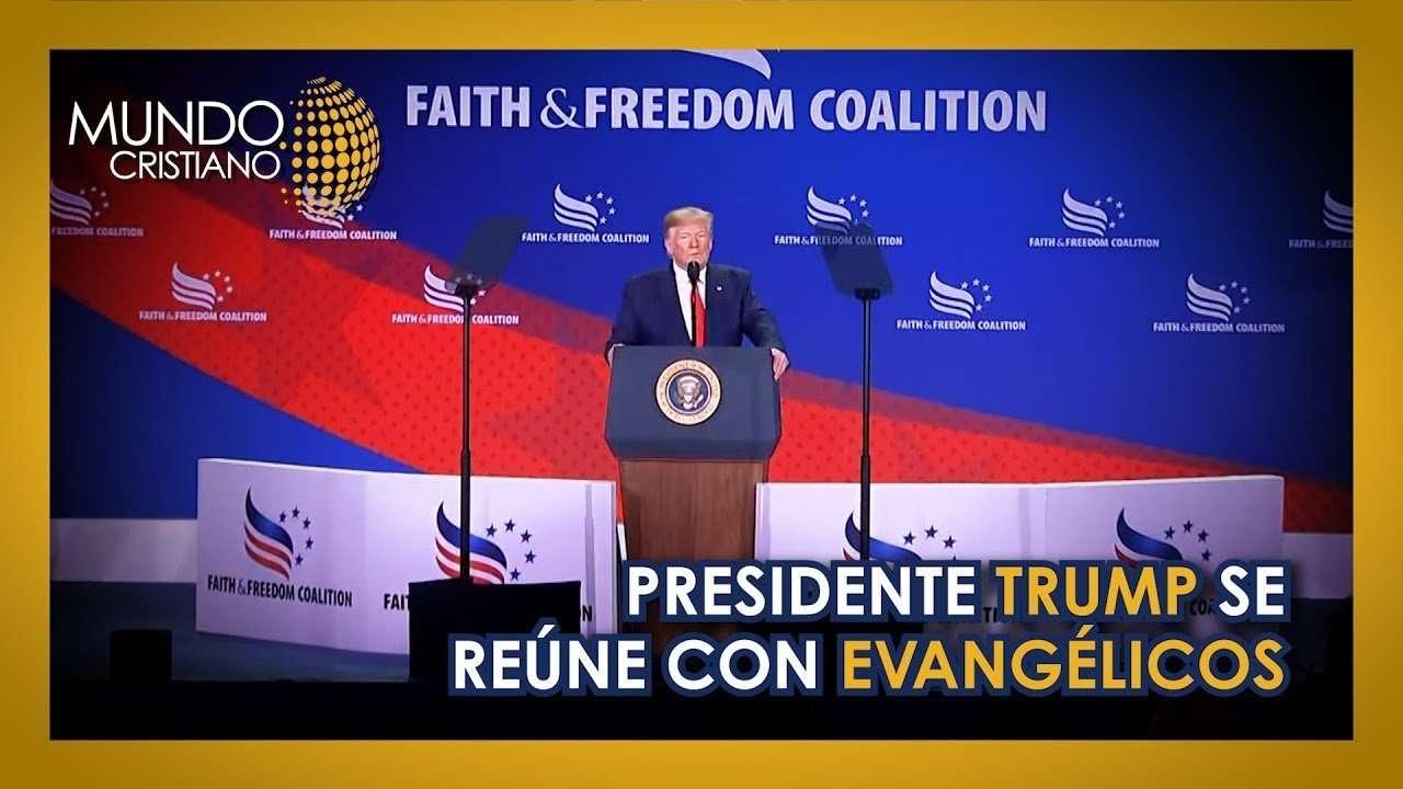 Donald Trump se reune con lideres evangelicos