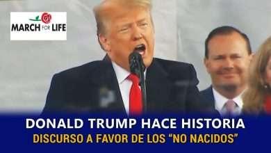 Photo of Donald Trump vuelve a hacer historia al sumarse a la Marcha Pro Vida
